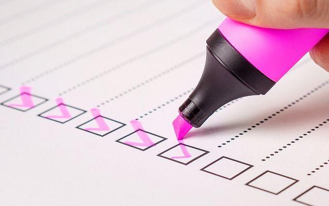 lista de tareas objetivos