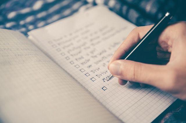 Haciendo la lista de tareas y objetivos