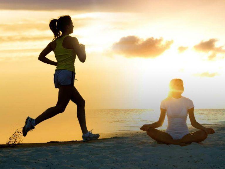 meditar y correr