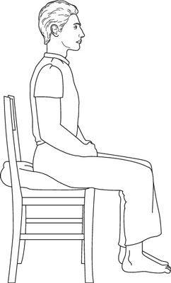 postura meditacion en silla
