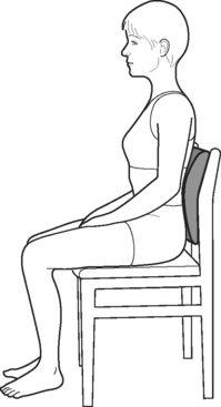 postura meditacion en silla con cojin
