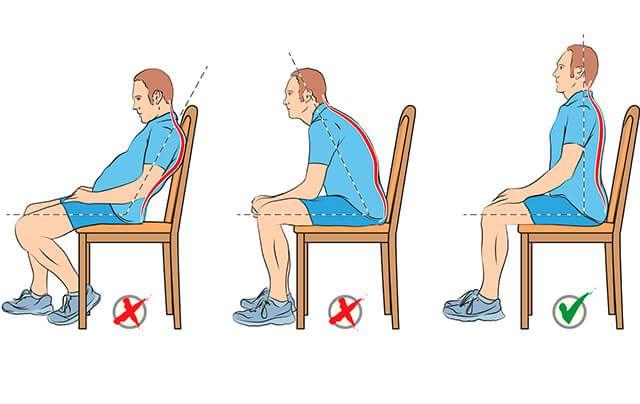 micro habito de sentarse correctamente